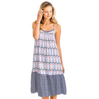 Southern Tide Women's Lorena Mixed Print Midi Dress