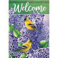 Carson Home Accents Lilacs & Goldfinch Garden Flag