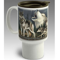 American Expedition Gray Wolf Stoneware Travel Mug