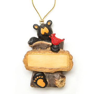 Big Sky Carvers Bear Cardinal Ornament
