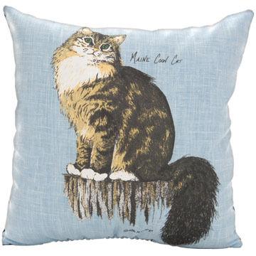"""Maine Balsam Fir 7"""" x 7"""" Maine Coon Cat Balsam Pillow"""