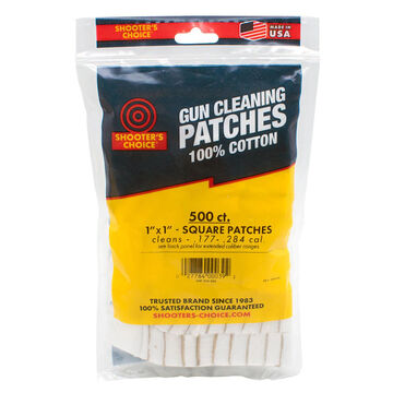 Shooters Choice 1 Gun Cleaning Patch - 500 Pk.