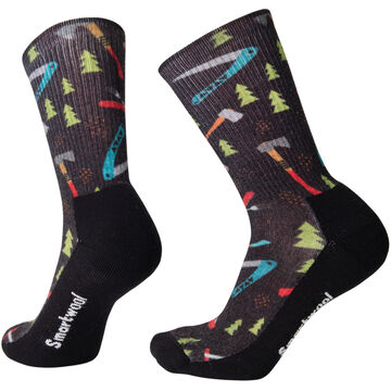 SmartWool Mens Hike Light Sharp Things Crew Sock - Special Purchase