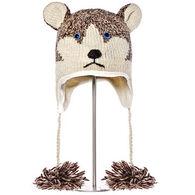 Knitwits Boys' & Girls' Happy the Husky Hat