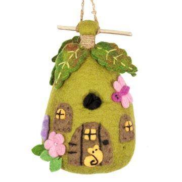 Wild Woolies Fairy House Hand-Felted Birdhouse