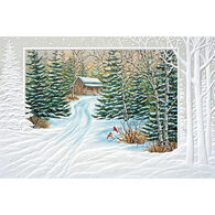 Pumpernickel Press Evergreen Cabin Deluxe Boxed Greeting Cards