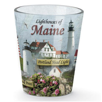 Cape Shore Lighthouses of Maine Shot Glass