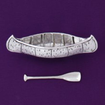 Basic Spirit Canoe Salt Cellar With Spoon