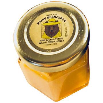 Swans Maine Beekeeper Raw & Unfiltered Wildflower Honey - 2 oz.