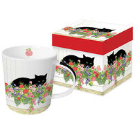 Paperproducts Design Black Cat Flower Box Mug