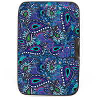 Fig Design Women's Paisley Blue RFID Wallet