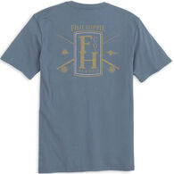 Fish Hippie Men's FH Company Poles/Crest Short-Sleeve T-Shirt