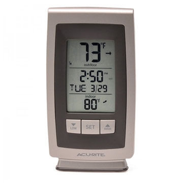 AcuRite Digital Indoor / Outdoor Thermometer w/ Intelli-Time Clock