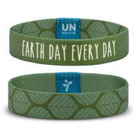 Unselfie Women's Earth Day Olive Leaf Pattern Wrist Band