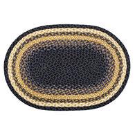 Capitol Earth Oval Light & Dark Blue/Mustard Braided Rug