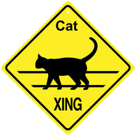 KC Creations Cat XING Sign