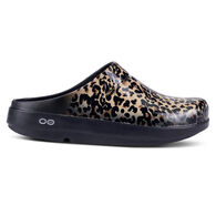 Oofos Women's OOcloog Limited Leopard Clog