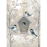 LPG Greetings Chickadee Bird House Boxed Christmas Cards