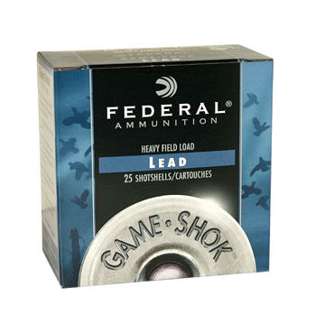 "Federal Game-Shok Upland Heavy Field 12 GA 2-3/4"" 1-1/8 oz. #7.5 Shotshell Ammo (25)"