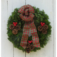 "Bessey Ridge Wreaths 24"" Maine Woods Wreath"
