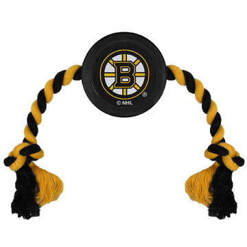 Pets First Boston Bruins Hockey Puck Dog Toy