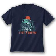 Earth Sun Moon Trading Men's Live Stream Short-Sleeve T-Shirt