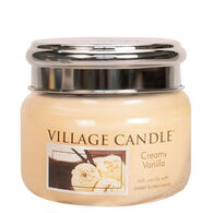 Village Candle Small Glass Jar Candle - Creamy Vanilla