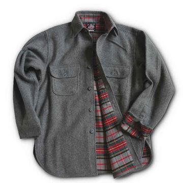 Johnson Woolen Mills Mens Flannel-Lined Button Long-Sleeve Shirt