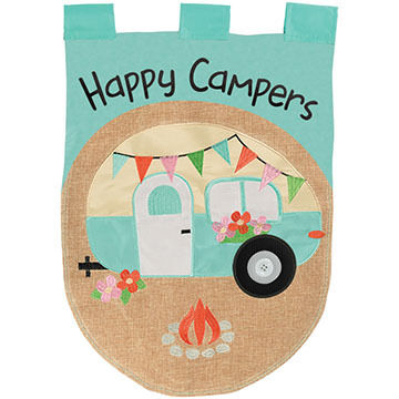 Carson Home Accents Flagtrends Happy Camper Garden Flag