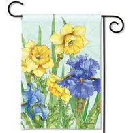 BreezeArt Daffodils and Irises Garden Flag