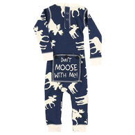 Lazy One Infant Boy's Classic Moose Flap Jack