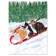 Allport Editions Cats Toboggan Boxed Holiday Cards