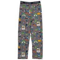 Hatley Little Blue House Men's Retro Camping Jersey Pajama Pant