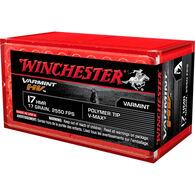 Winchester Varmint HV 17 HMR 17 Grain Polymer tip V-Max Ammo (50)