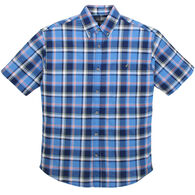 Canyon Guide Outfitters Men's Woven Plaid Short-Sleeve Shirt