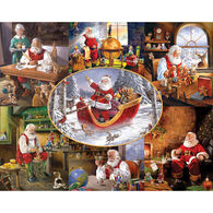 White Mountain Jigsaw Puzzle - Merry Christmas To All
