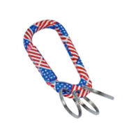 Munkees US Flag Carabiner w/ 3 Keyrings