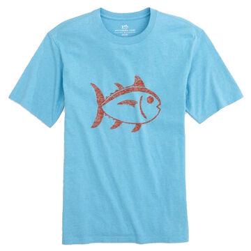 Southern Tide Mens Skipjack Reverse Printed Short-Sleeve T-Shirt