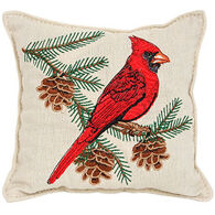 "Paine Products 6"" x 6"" Embroidered Cardinal Balsam Pillow"