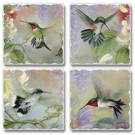 Ridge Top Kountry Krystal Natures Gift Of Feathers Coasters, 4-Pack
