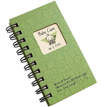 "Journals Unlimited ""Write It Down!"" Mini-Size Baby Care Avocado Journal"