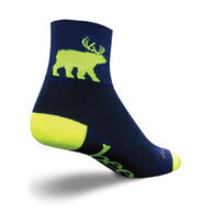 SockGuy Men's Bear Me Bicycling Sock