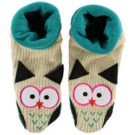 Lazy One Boy's & Girls' Owl Woodland Slipper Sock