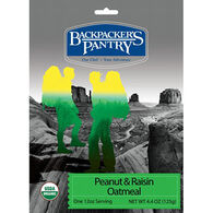 Backpacker's Pantry Organic Peanut & Raisin Oatmeal - 1 Serving