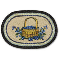 Capitol Earth Braided Oval Blueberry Swatch Rug