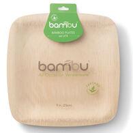 Bambu Veneerware Compostable Bamboo Square Plate - 8 Pk.
