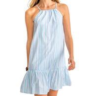 Southern Tide Women's Ivette Multi Tonal Striped Seersucker Dress