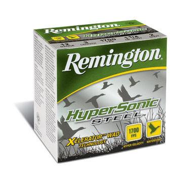 "Remington HyperSonic Steel 12 GA 3"" 1-1/4 oz. 1700 FPS #2 Shotshell Ammo (25)"