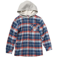 Carhartt Boy's Flannel Button Down Hooded Long-Sleeve Shirt
