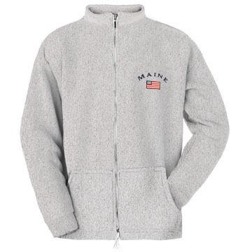 ESY Mens Maine Flag Full Zip Sweatshirt